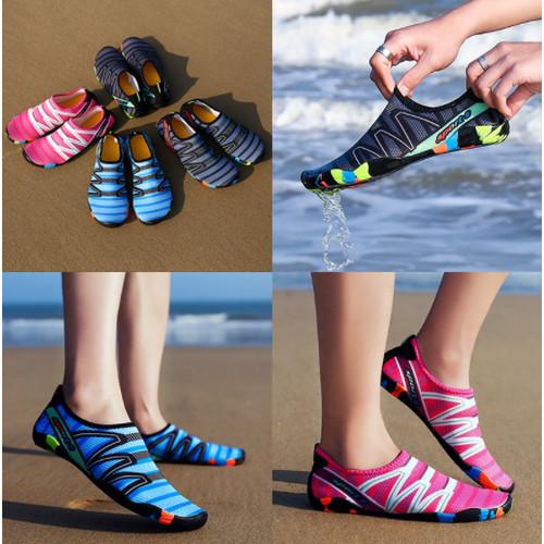 Foto Produk Sepatu Pantai Slip on Kaos Kaki Bahan Lembut Olahraga Snorkeling dari Acc Perhiasan