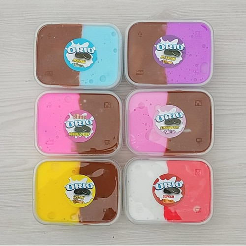 Foto Produk Slime Oreo/Slime Tofu 7 Variasi/Slime Jiggly/Slime Oreo dari www-bajualya-com