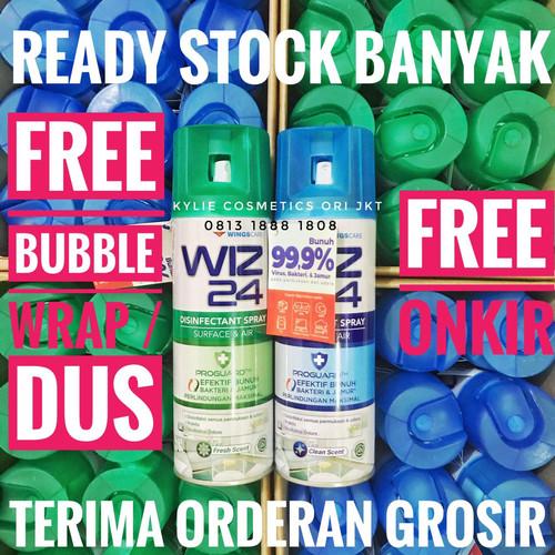 Foto Produk WIZ 24 Desinfektan Udara Ruangan AEROSOL 300 ml Air Disinfectant Spray - Biru 300ml dari Kylie Cosmetics Ori Jkt