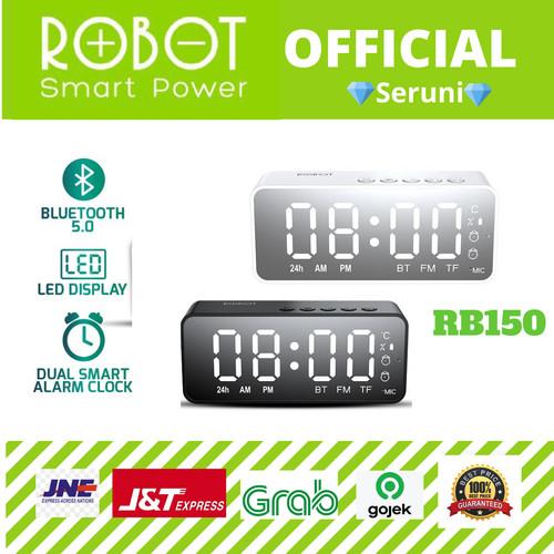 Foto Produk (SERUNI) SPEAKER BLUETOOTH ROBOT RB150 LED ALARM CLOCK 5.0 - Putih dari serunicomp