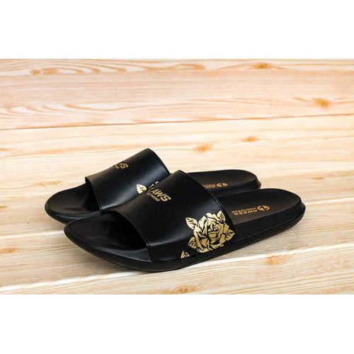 Foto Produk sandal pria/ sandal slide pria terbaru/sandal distro z awsfootwear - gold rose, 44 dari zawsfootwear