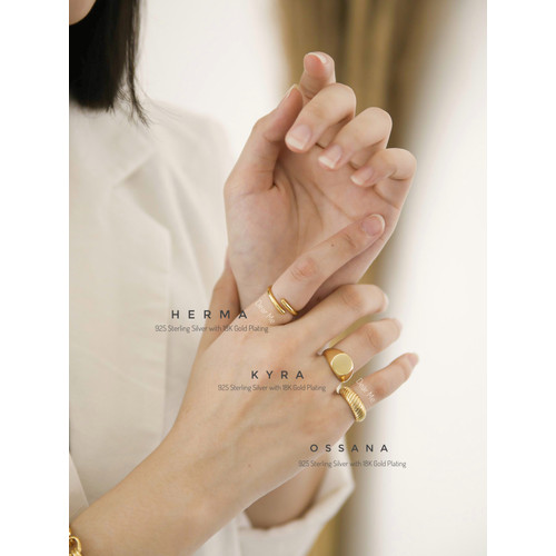 Foto Produk Dear Me - Ossana Ring (925 Sterling Silver with 18K Gold Plating) dari Dear Me Jewelry