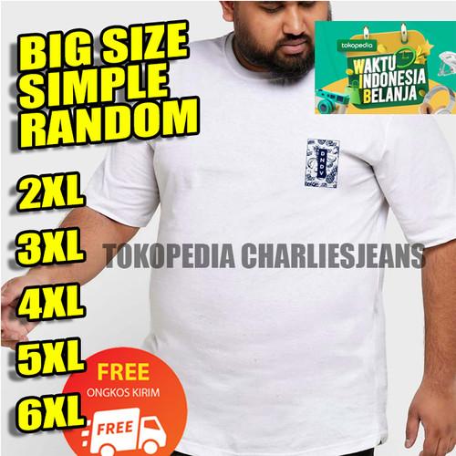 Foto Produk KAOS PRIA XXL XXXL Baju Big Size Oblong Jumbo - 2XL, Kuning dari charliesjeans