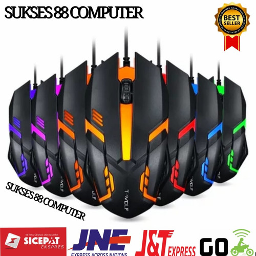 Foto Produk MOUSE GAMING LED / MOUSE GAMING RGB WITH CABLE HITAM - Hitam dari ACC COMPUTER 22