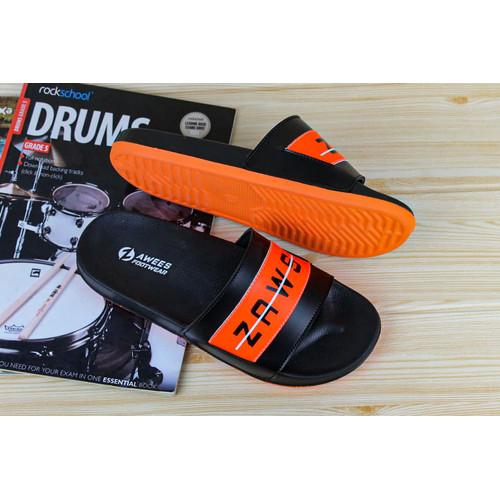 Foto Produk sandal pria/ sandal slide/ sandal distro/ sandal kekinian - Orange, 39 dari zawsfootwear