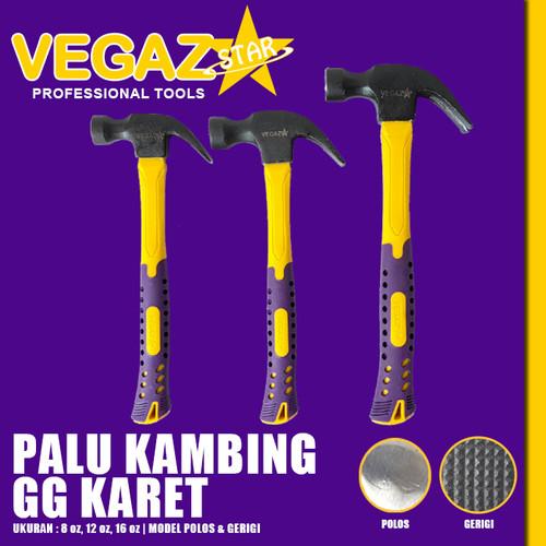Foto Produk VEGAZSTAR - Palu Kambing Gagang Karet dari Vegaz-Tools