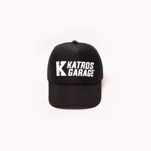 Foto Produk TOPI TRUCKER OFFICIAL KATROS GARAGE - FULL BLACK dari CustomKit Official