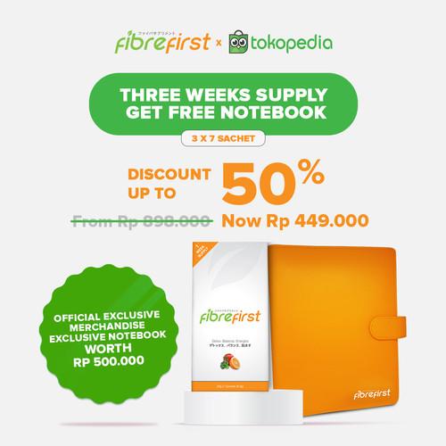Foto Produk FibreFirst X Tokopedia Three Weeks Supply Get Exclusive Notebook dari FibreFirst Official