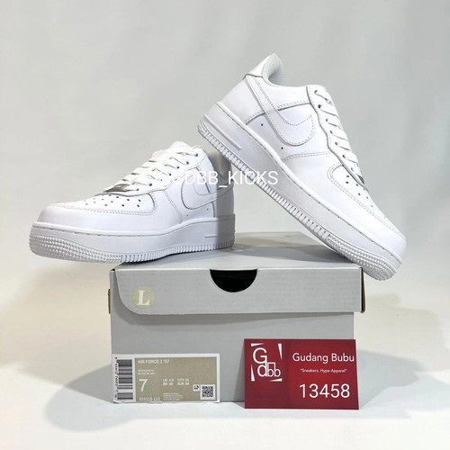 Foto Produk Nike Air Force 1 Low Triplewhite Allwhite BNIB dari Gudang Bubu