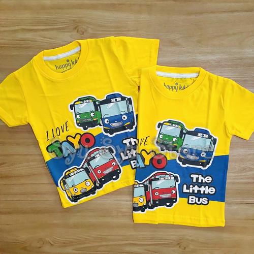 Foto Produk Baju Atasan Kaos Anak Laki Laki Cowok Tayo The Little Bus Kuning - Ukuran Usia 1 dari Syu Syu Store