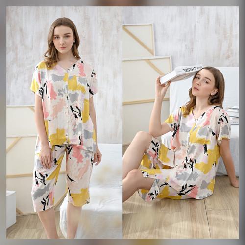 Foto Produk Lucy set in Color Blast - Sleepwear / Piyama Baju Tidur Rayon by RAHA dari Raha Sleepwear