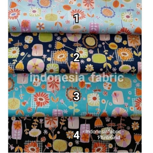 Foto Produk Kain Bahan Gamis Craft Tunik Katun Jepang motif KJ206 - nomor 4 dari Toko Kain Grosir