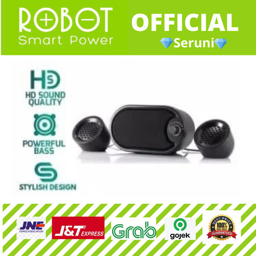 Foto Produk BLACK SPEAKER ROBOT STEREO RS170 LED dari serunicomp