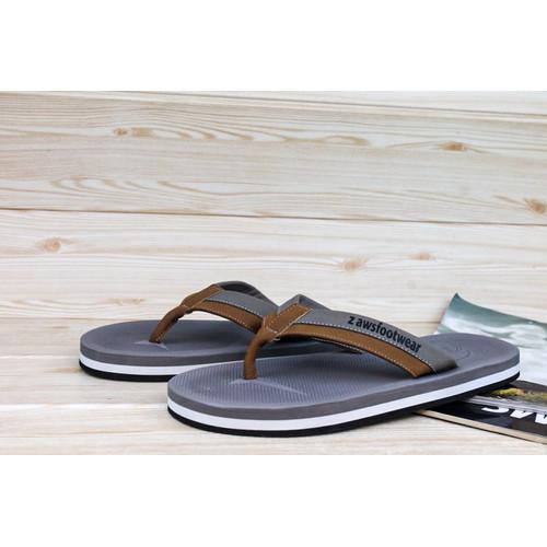 Foto Produk sandal jepit prial// z awsfootwear/2 varian warna navy dan coklat - Cokelat, 39 dari zawsfootwear