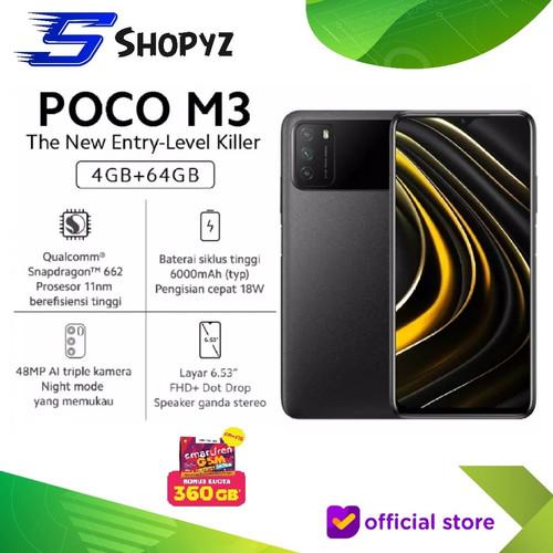 Foto Produk XIAOMI POCOPHONE POCO M3 - 4GB 64GB - 4/64 GARANSI RESMI - Power Black dari Shopyz ID