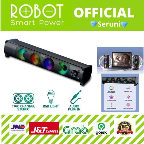 Foto Produk SERUNI (DISTRI ROBOT) SPEAKER GAMEN RS300 GAMING SOUNDBAR WITH RGB dari serunicomp