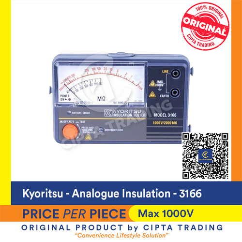 Foto Produk Kyoritsu 3166 Analogue Insulation Tester dari Cipta Trading