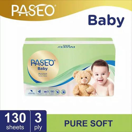 Foto Produk tissue paseo baby facial pure soft 130-3ply/tissue bayi pure soft dari pempekkyla