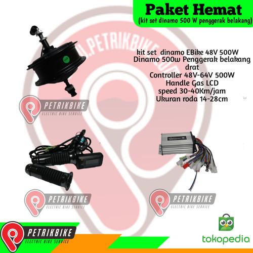 Foto Produk Paket Hemat Kit Set Dinamo Sepeda Listrik 500w Drat dari petrikbike