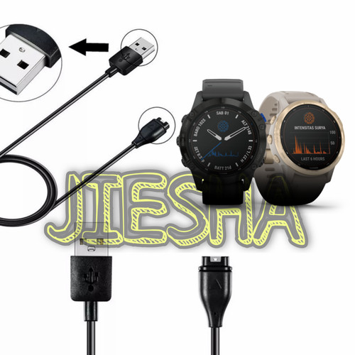 Foto Produk GARMIN FENIX 6 6S 6X PRO SOLAR CHARGER CABLE DATA KABEL USB PORT CAS dari Jiesha Shop