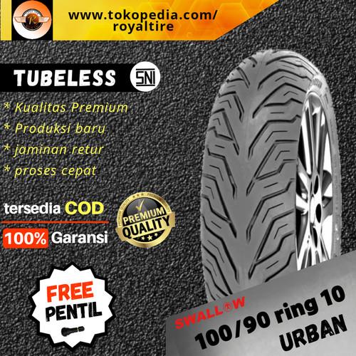 Foto Produk Ban luar motor vespa 100/90 ring 10 classic klasik tubles swallow dari Royal tire