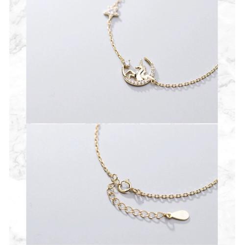 Foto Produk Dear Me - Unicorn Bracelet (925 Sterling Silver with 18K Gold Plating) dari Dear Me Jewelry