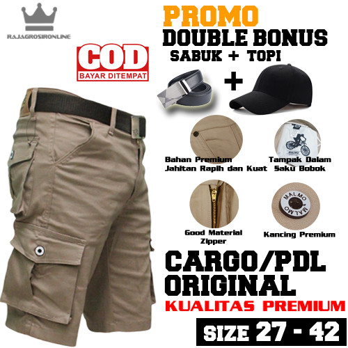 Foto Produk Celana Cargo Pendek Original - S dari rajagrosironline