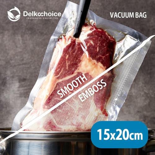 Foto Produk PLASTIK VACUM BAG / PLASTIK VAKUM MAKANAN ( Uk : 15cm x 20cm ) - Premium dari Aneka Bungkus