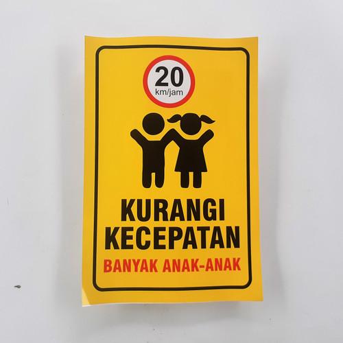 Foto Produk Stiker Kurangi Kecepatan Banyak Anak-anak dari Syafana