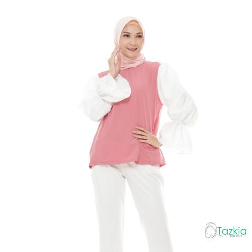 Foto Produk Atasan Wanita Muslim   Silmi Blouse Rose   S M L XL   Tazkia Hijab - L dari Tazkia Hijab Store