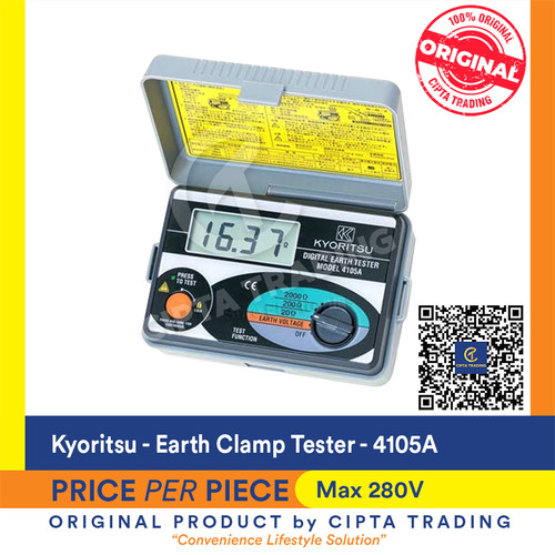 Foto Produk Kyoritsu 4105a Earth Tester (soft case) dari Cipta Trading