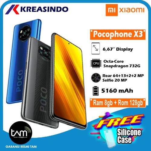 Foto Produk PocoPhone Poco X3 8/128 NFC Ram 8gb Internal 128gb Garansi Resmi - Biru dari Kreasindo Online