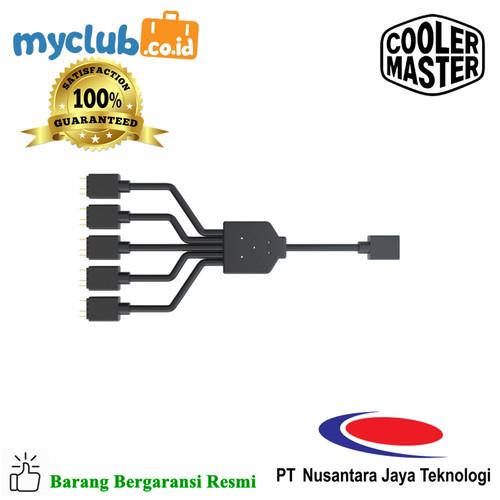 Foto Produk Cooler Master 1-5 ARGB Splitter [MFX-AWHN-1NNN5-R1] dari Myclub