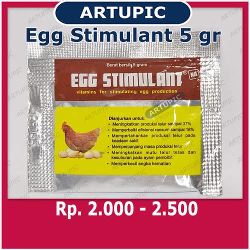Foto Produk Egg Stimulant 5 gr Vitamin Pemacu Meningkatkan Produktivitas Telur dari ArtupicPeralatanPeternak