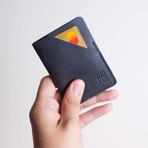 Foto Produk WAKU NODA Dompet Kartu/Card Holder Kulit Leather - Elegant Black dari WAKU Indonesia