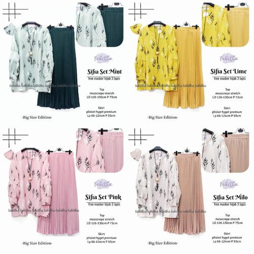 Foto Produk New Sifia Set Setelan Rok Wanita Jumbo Baju Kerja Big Size Modis dari Ilyassa Shop