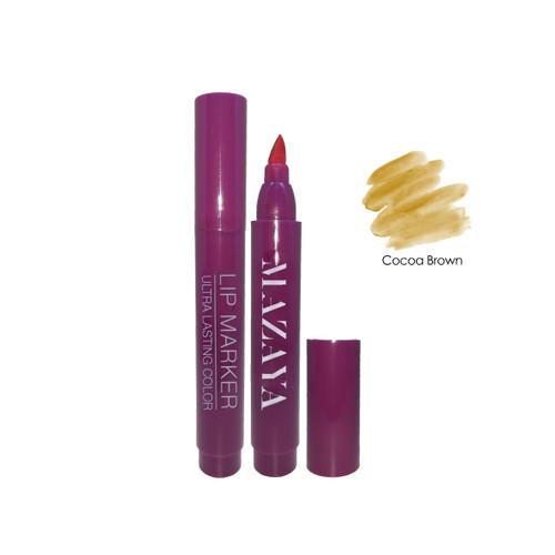 Foto Produk [PROMO] Mazaya Lip Marker 7ml - Cocoa Brown dari Mazaya Cosmetics