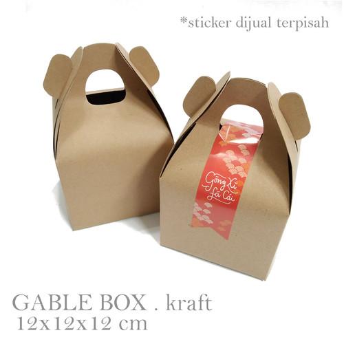 Foto Produk GABLE BOX KRAFT . MATERIAL : KRAFT CARTON 350gr SIZE : 12x12x12 cm dari ashadewi gayatri