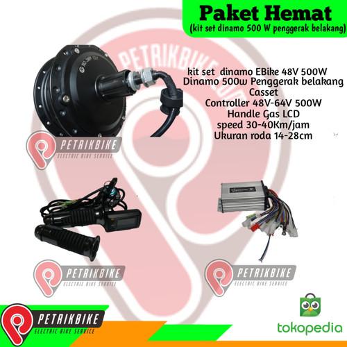 Foto Produk Paket Hemat Kit Set Dinamo Sepeda Listrik 500w Casset dari petrikbike