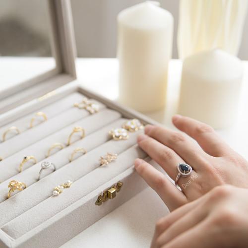 Foto Produk Dear Me - Sapphire Ring 925 Sterling Silver Cincin Wanita Perak Safir dari Dear Me Jewelry