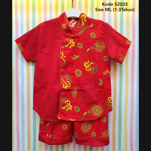 Foto Produk Cheongsam Boy / Cheongsam Anak Laki-laki / Baju Imlek Sincia Anak Laki dari kat.babyclothing