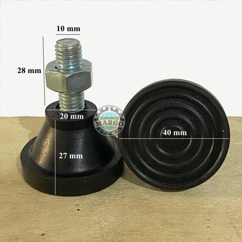 Foto Produk alas kaki meja dari karet bisa diatur F_ADJ_ENH_D40_D20_T45 dari Margo Shop