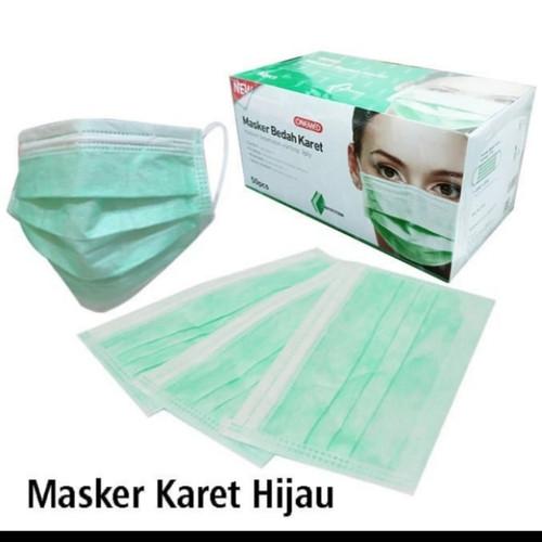 Foto Produk masker bedah 3 ply karet hijau onemed - Hijau, dengan buble dari Gunung Sari Intan