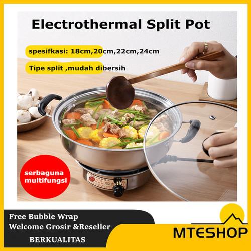 Foto Produk Yundai Panci Listrik / Electric cooking Pot Mini Multifungsi 18cm dari MTEshop