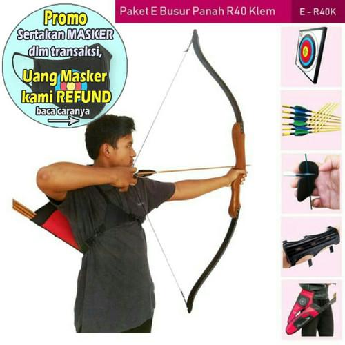 Foto Produk PAKET E BUSUR PANAH R40K+TARGET+ARROW+ARM GUARD+FINGER TAB+QUIVER dari Vision Archery Club