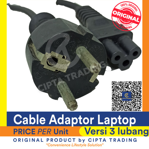 Foto Produk Cable from Notebook Adaptor to Power outlet (Premium/Thick cable) dari Cipta Trading