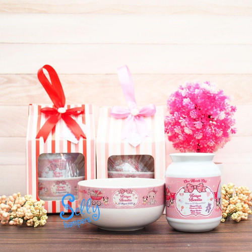 Foto Produk Souvenir baby one month/hampers/mangkok/mug dari Selly Hampers