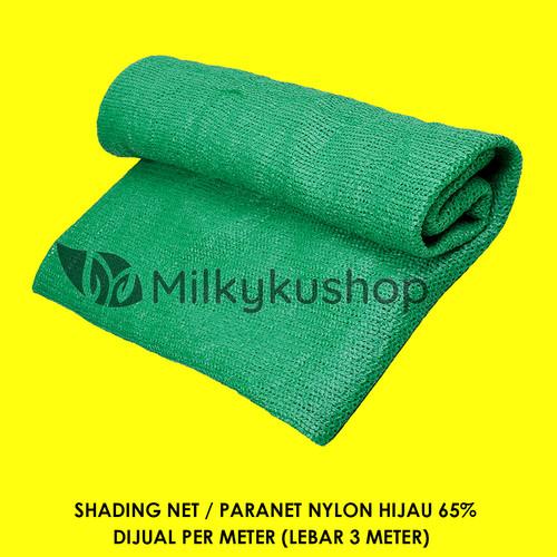 Foto Produk PARANET NYLON 65% LEBAR 3 METER JUAL PER 1 METER SHADING NET - Hitam dari Milkyku Shop