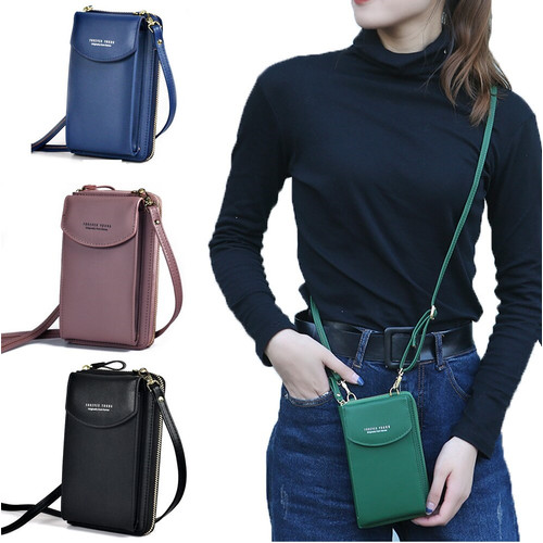 Foto Produk TS157 Tas Wanita Selempang Mini FY Luxury PU Leather Sling Bag - pink dari Dneo Store
