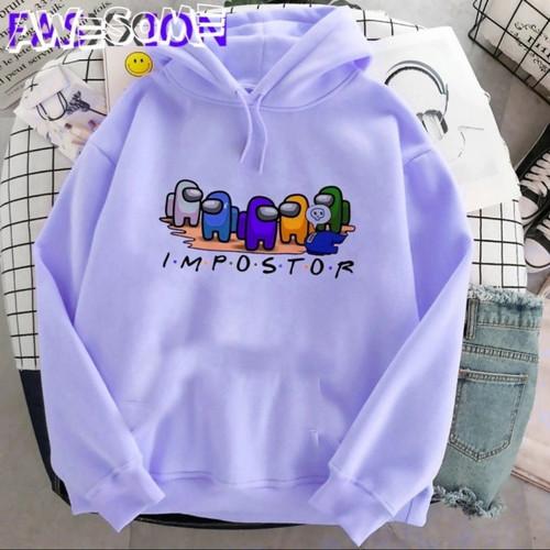 Foto Produk Sweater anak perempuan AMONG US jaket baju anak perempuan - Merah Muda dari SnsStore